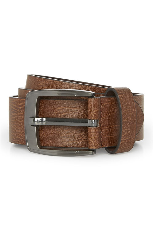 Tan Wide Buckle Belt by Cedar wood state