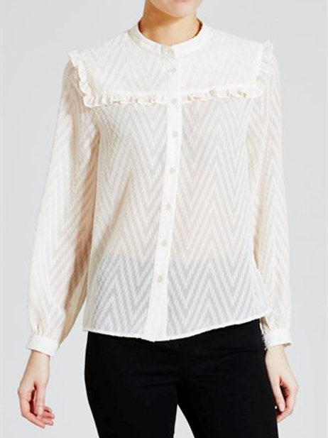 Textured Frill Blouse