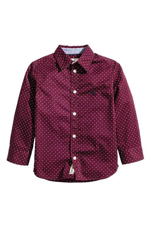 Cotton shirt from H&M - Burgundy/Spotted