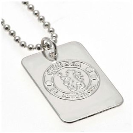 Silver Plated Chelsea Dog Tag & Ball Chain