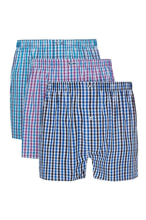 3Pack Pastel Gingham Boxers