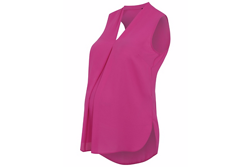 Pink Maternity V-neck Blouse by George