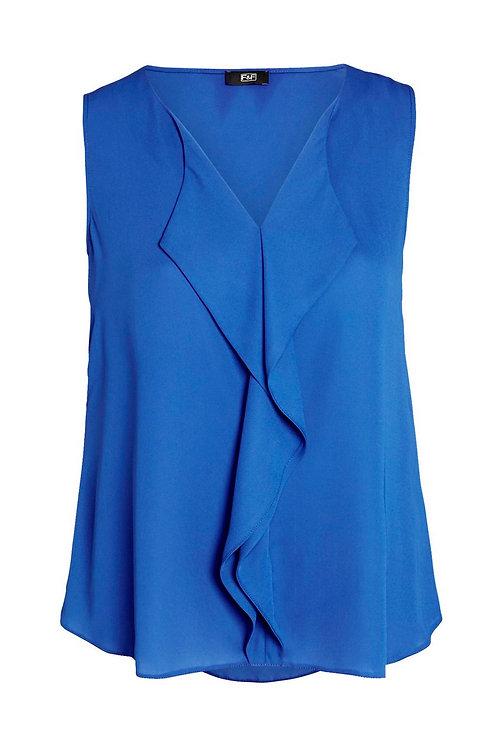Cobalt Blue F&F Ruffle Detail Sleeveless Blouse