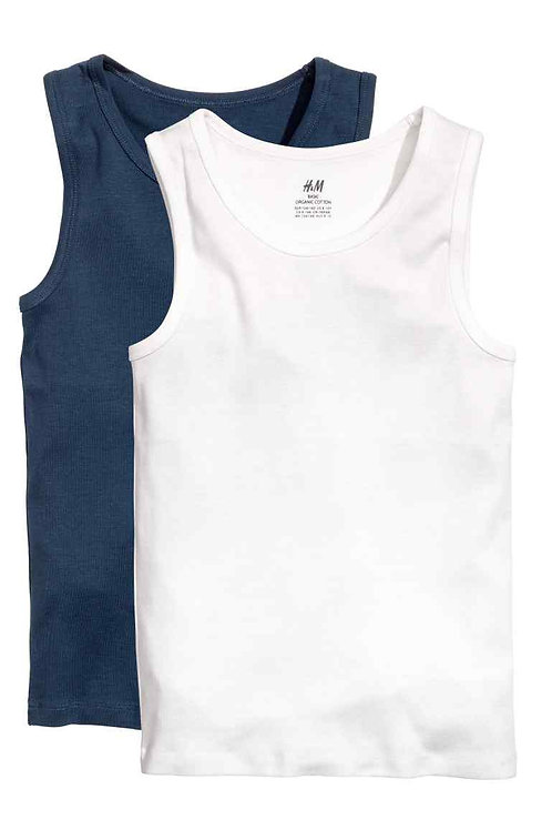 Dark Blue 2-pack vest tops