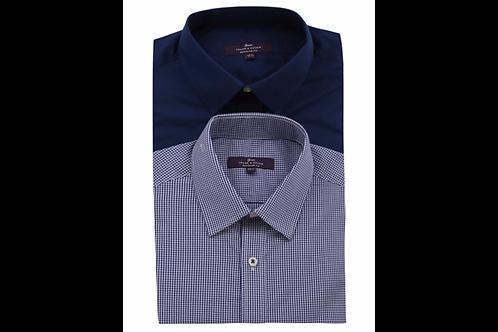 Tailor & Cutter 2 Pack Regular Long Sleeve Shirts