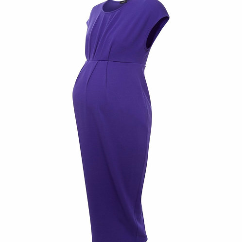 Maternity Purple Short Sleeve Midi Dress by New Look