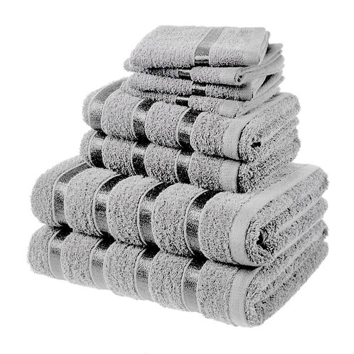 8 PCS BALE TOWEL SET - Silver