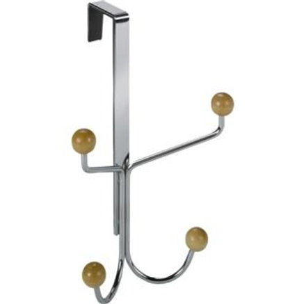 Simple Value 4 Over Door Coat Hooks - Silver