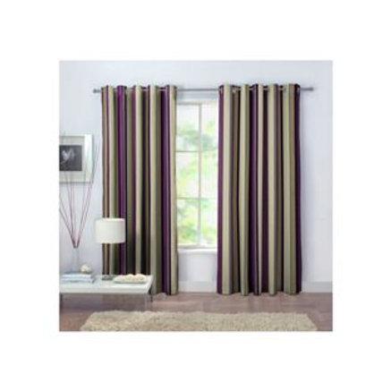 Rossini Stripe Unlined Curtains - 117 x 137cm -
