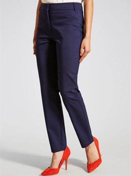 Slim Leg Trousers - Navy