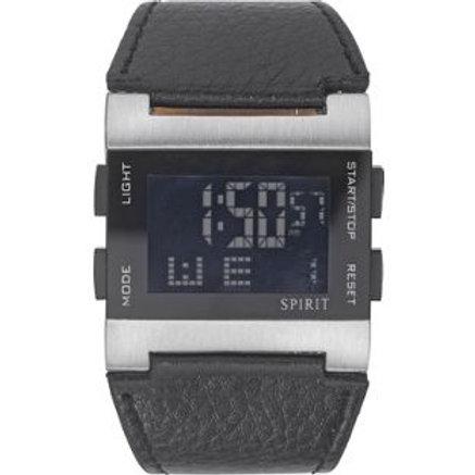 Spirit Men's Black Strap Digital Watch