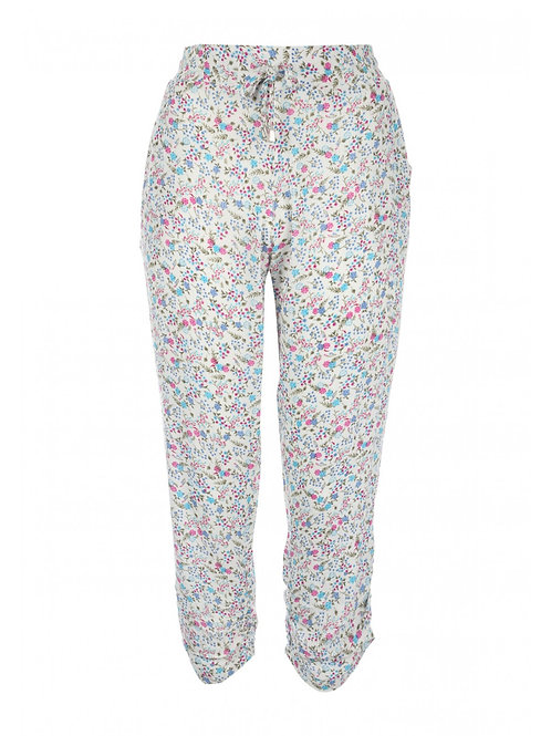 Women's Ditsy Printed Cheesecloth Trouser