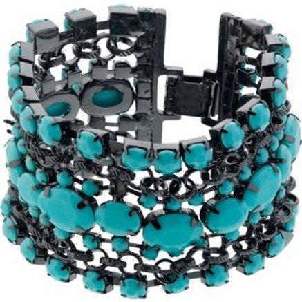 Turquoise Colour Multi Strand Bracelet