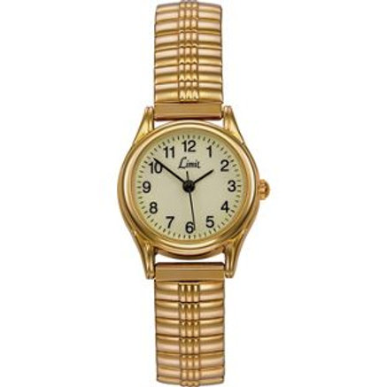 Limit Ladies' Gold Plated Glow Dial Expander Watch
