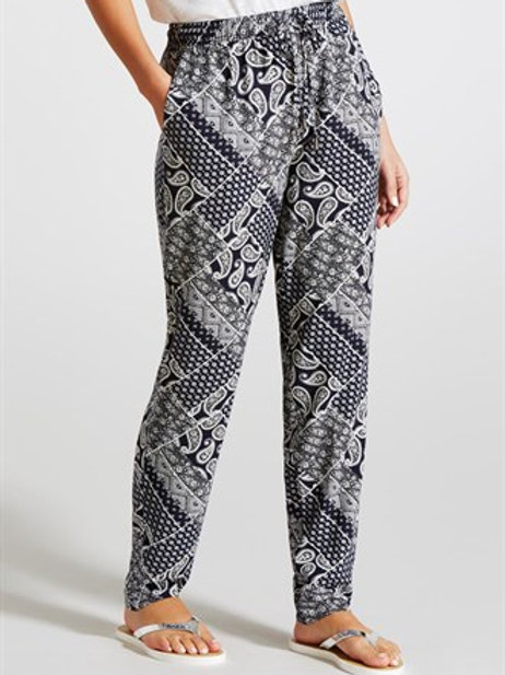 Tapered Paisley Print Trousers