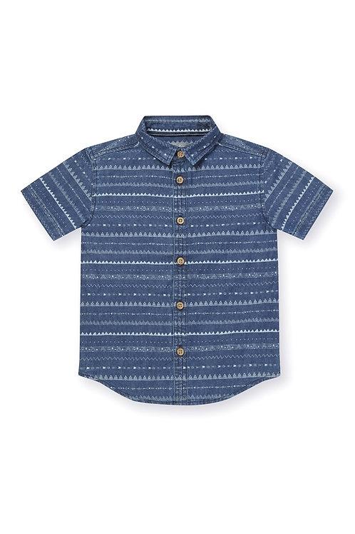 Aztec Print Short Sleeve Denim Shirt (Boys 2-7)