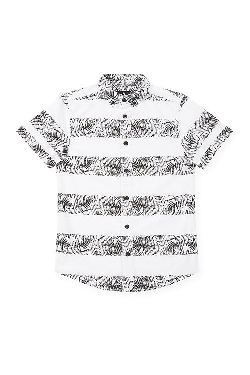 Rebel - Leaf Print Short Sleeve Shirt