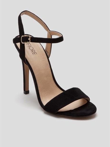 Fiore - Black strappy heeled sandals