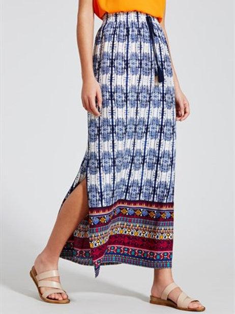 Printed Border Maxi Skirt
