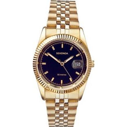 Sekonda Men's Black Dial Bracelet Watch