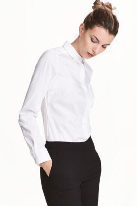 H&M Stretch shirt - White