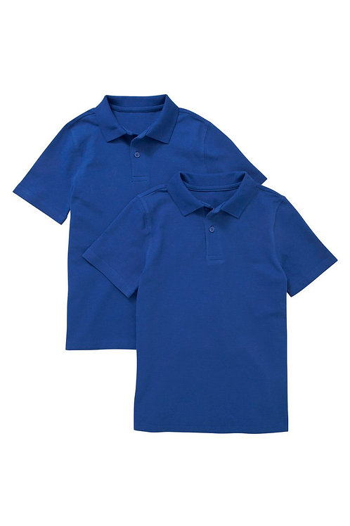 2 Pack of Unisex Polo T-Shirts in Blue