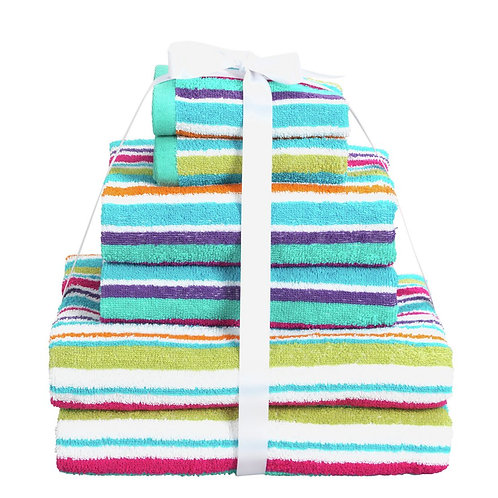 ColourMatch 6 Piece Towel Bale Set - Stripes