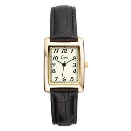 Limit Ladies' Gold Plated Rectangular Glow Dial