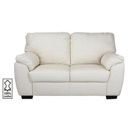 New Milano Regular Leather Sofa - Ivory