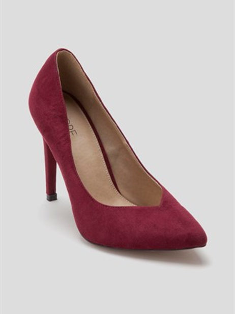 Red Pointed High Heels by Fiore