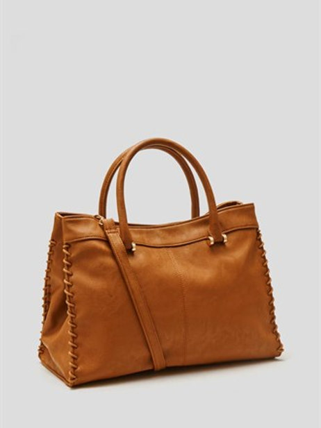 Whipstitch Detail Tote Bag