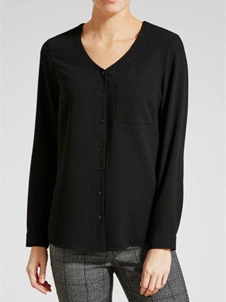 Textured Utility Blouse - Black