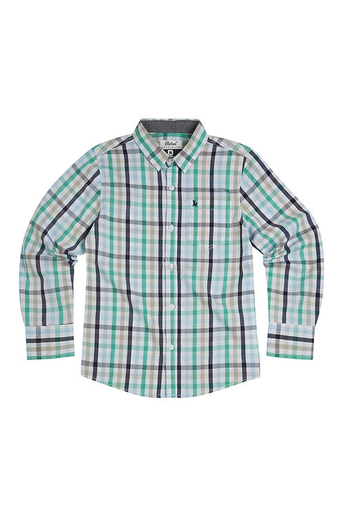 Green And Blue Check Shirt from Rebel