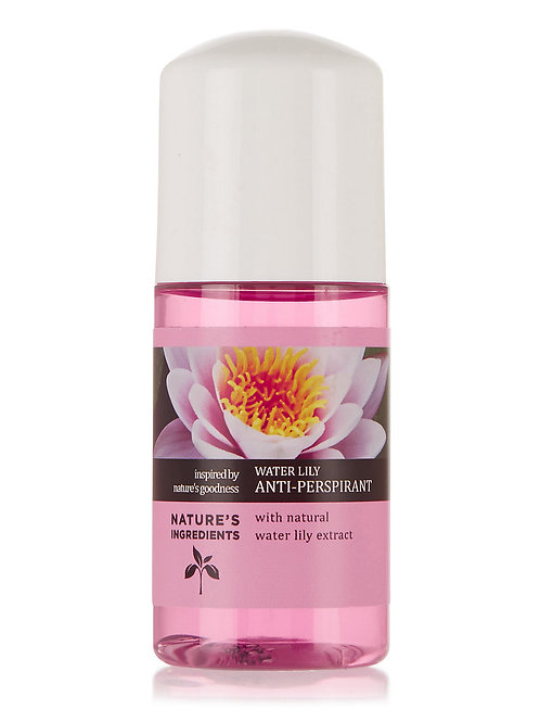 NATURE'S INGREDIENTS: Water Lily Roll On Deodorant 50ml