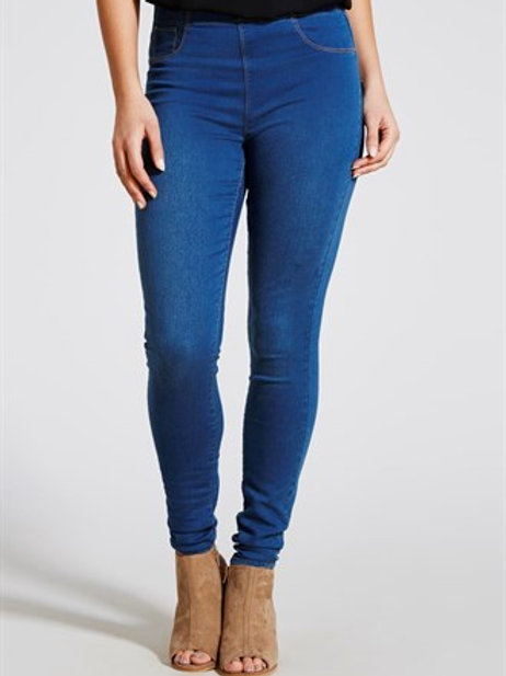 Rosie Pull On Jeggings - Midwash