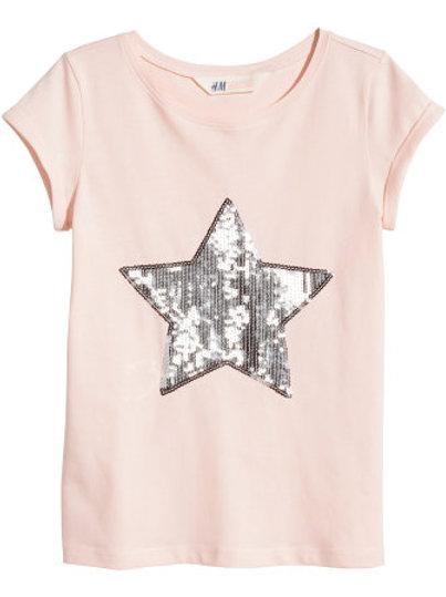 H&M - Powder Pink Jersey top (8-14yrs)