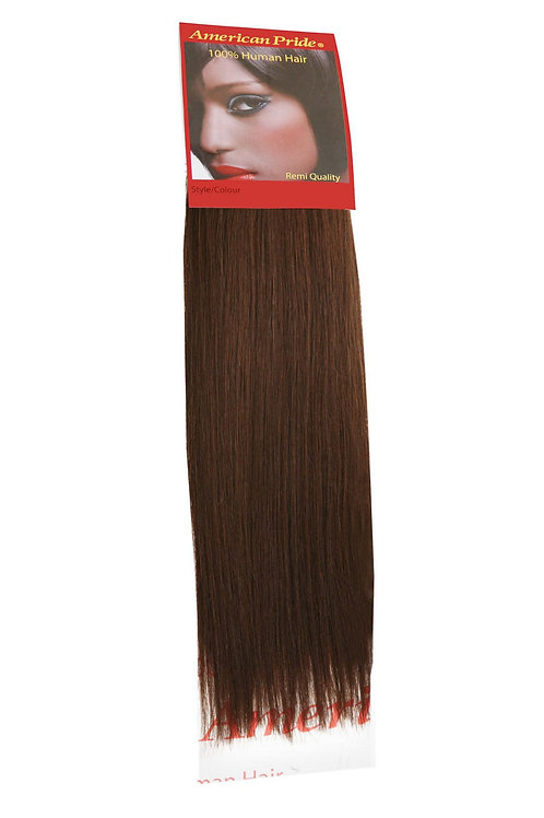 Yaki Weave | Human Hair Extensions Dark Brown