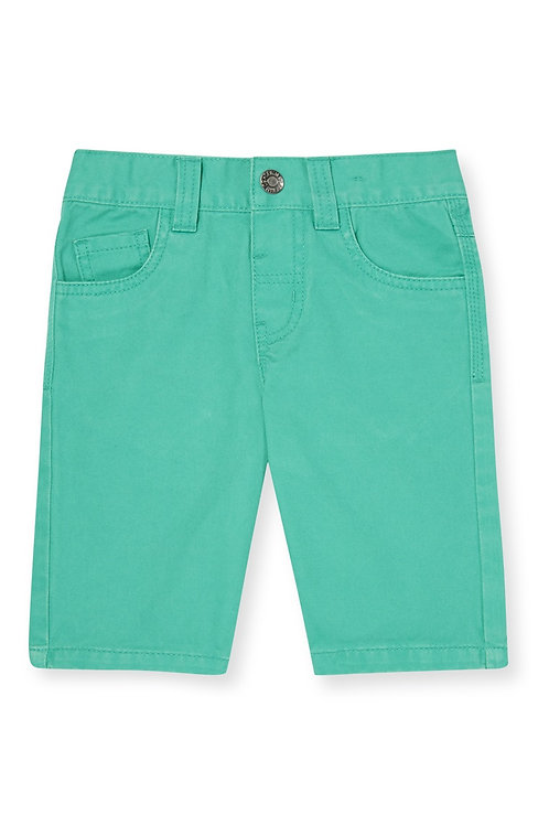 Rebel - Green Twill Shorts