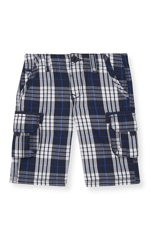 Rebel -Blue Check Cargo Shorts