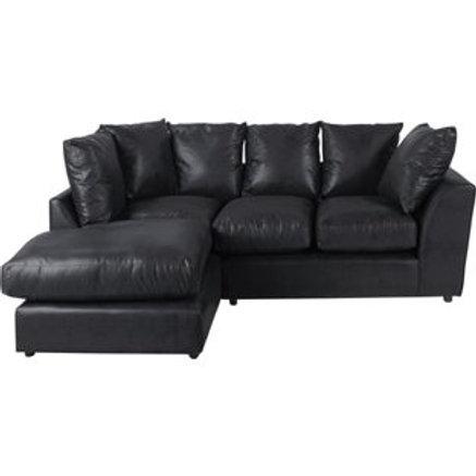 New Alfie Leather Effect Left Hand Corner Sofa
