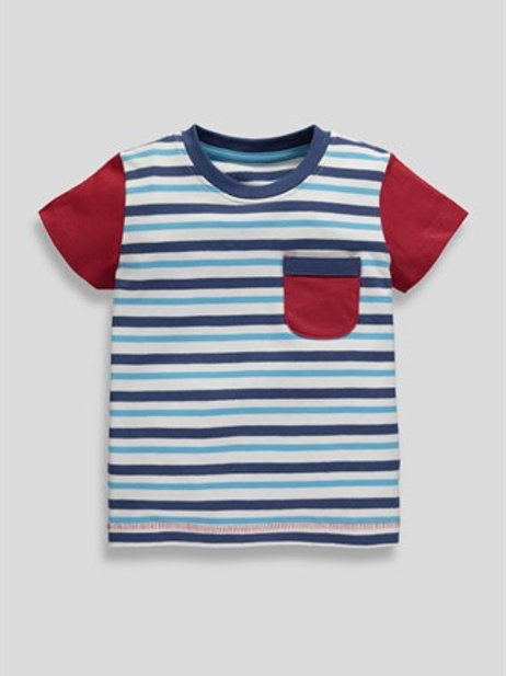 Blue Boys Striped T-Shirt from Matalan