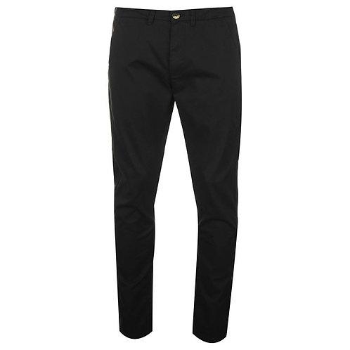 Black Pierre Cardin Chino Trousers Mens