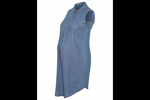 Sleeveless Maternity Denim Dress by George