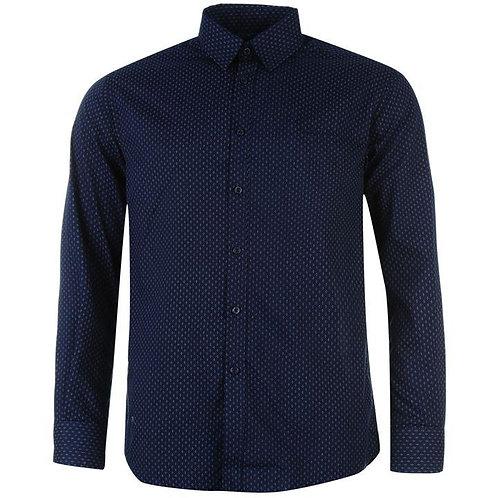 Pierre Cardin Long Sleeve Shirt Men's - Navy Geo