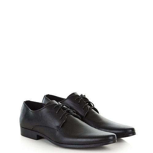 Black Perforated Gibson Shoes by Newlook