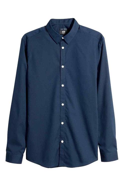 Navy Blue Easy-iron shirt