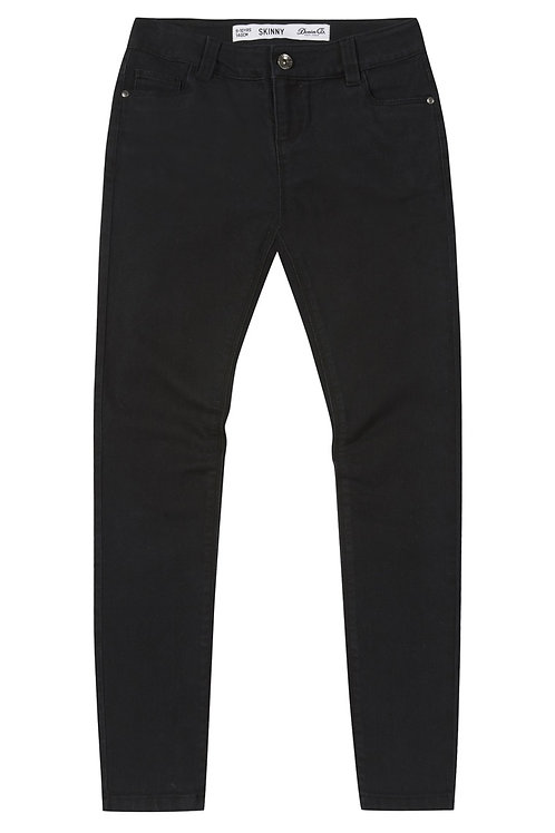 Denim & Co - Basic Black Denim Skinny Jeans 7+