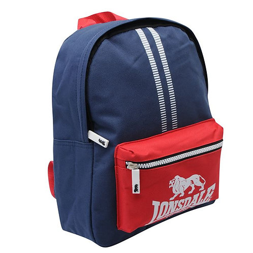 Lonsdale Mini Backpack in Navy / Red