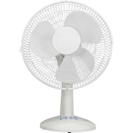 Challenge White Oscillating Desk Fan - 12 Inch