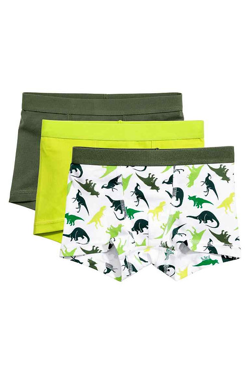 White/ Dinosaurs 3-pack boxer shorts